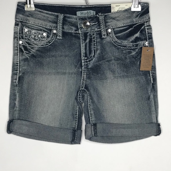 9be4777c2d0 NEW • Girl s • MUDD JEANS • Bermuda Denim Short
